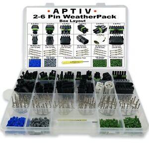 (603PCS) APTIV/Delphi Packard Weatherpack 2-6 Circuit Kit, Gauge 10~20GA