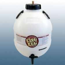 King Keg Bottom Tap Pressure Barrel home brew beer c/w gas injection cap. NEW