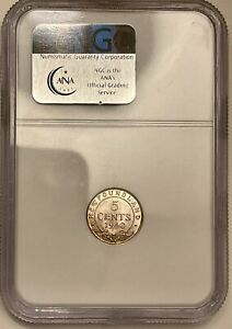 1940 C Newfoundland 5 Cent Silver NGC MS63 Nice Example
