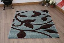 Alpine Modern Floral Design Duckegg Blue Small - Large Living Room Area Rug