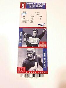 2019 Eli Manning Last Game New York Giants Miami Dolphins Football Full Ticket