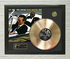 """B. B. King & Eric Clapton Framed wood Legends Of Music LP Record Display 2. """"C3"""""""