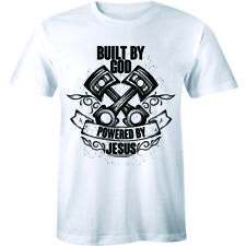 Built By God Powered By Jesus Shirt Religious Christian Men's T-shirt Tee