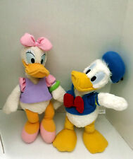 Walt Disney  Vintage Lot of 2  Donald & Daisy Duck plush Stuffed plush Toy CUTE!