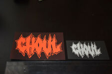 GHOUL sticker set (exhumed, toxic holocaust, cannabis corpse, gwar, impaled)