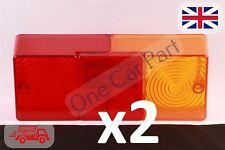 2x Massey Ferguson 240,250,265,275,290 Tractor Rear Tail Brake Light Lamp Lens