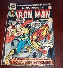 Editions Heritage Invincible Iron Man # 21 1972 French Edition Black White