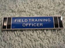 Field Training Officer Police Citation Bar Merit Badge Silvertone Pin FTO Badge