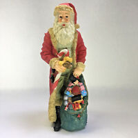 "Vtg PRICE Santa's House Christmas Collection Victorian Santa Figurine 11"" Resin"