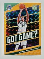 2019-20 Panini Giannis Antetokounmpo Mosaic Orange Flourescent Got Game 23/25