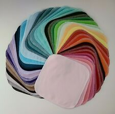 """Cloth Wipes 40 Baby Flannel 8""""x8"""" Girl Boy Neutral Solid Color Napkin Tissue"""