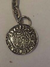 King John Penny Coin WC10 English Pewter Emblem on a Split Ring Keyring