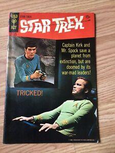 STAR TREK GOLD KEY SILVER AGE COMIC #5 VG Shatner & Nimoy photo Cover 1969