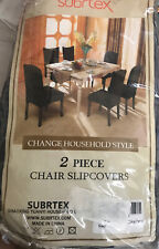 Subrtex Knit Stretch Dining Room Chair Slipcovers 2 pack (Gray Checks)- New