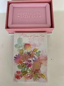 CST 12 oz ROSE & GREEN TEA Triple Milled Bath Bar Soap Made In USA - NEW in Box