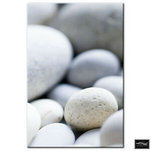 Bathroom Stones Pebbles   BOX FRAMED CANVAS ART Picture HDR 280gsm