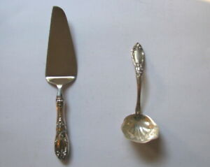 Towle Sterling Silver King Richard cake server and gravy ladle