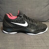 Nike Air Zoom Cage 3 Hard Court Tennis Shoes Black Men's Size 10 918193 026
