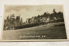 QUALICUM BEACH HOTEL BC RPPC  POSTCARD Qualicum cancel.