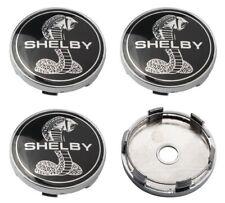 """2005-2014 Ford Mustang 60mm Black SHELBY Center Caps 2 3/8"""" SVT Cobra Hub Caps"""