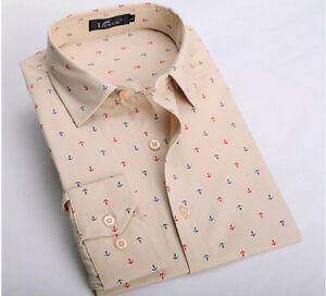 Mens Long Sleeves Dress Shirts Dot Luxury Casual Slim Fit Multicolor 6226