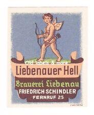 x1276 Brauerei LIEBENAU Fr. Schindler Liebenauer Hell Bieretikett BE beer label