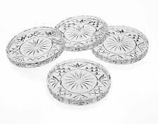 Lefonte Crystal Coasters, Coaster Barware, Set of 4