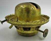 "Antique No. 3 P&A Waterbury Conn Flip Top Kerosene Oil Lamp Burner 1 3/4"" Thread"