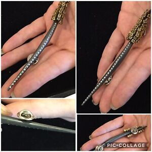 NEW WITH TAGS, SPECTACULAR TODD REED LARGE STERLING AND 18K DIAMOND PIN / BROOCH