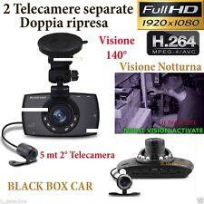 """DVR HD PER AUTO 1080P VIDEOSORVEGLIANZA REGISTRATORE TELECAMERA MONITOR LCD 2.7"""""""