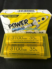 2 PACK NEW NITECORE IMR 18650 3100 mah 35a Rechargeable Battery