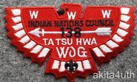 OA Flap 138 Ta Tsu (S41) 'White Feathers' -  Indian Nations Council BSA