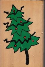 "Christmas tree thats all… Wood Mounted Rubber Stamp  3 1/2 x  2""  Free Shipping"