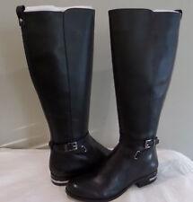 Michael Kors Arley Black Leather Women Boots Size 7.5