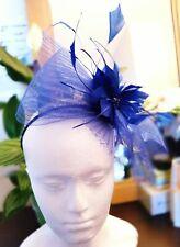 SUZANNE BETTLEY Crinkle Bow Fascinator - Cobalt Blue