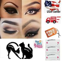 2 pcs Cat Eyeliner Stencil Matte PVC Material Repeatable Use Smokey Eye Stencil