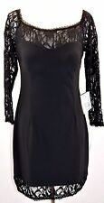 Betsy & Adam Off Shoulder Long Sleeve Lace/Sheath Petite Dress Size 12P #A837
