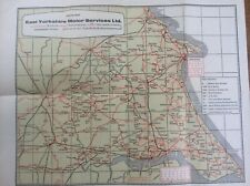 Vintage East Yorkshire Motor Services Bus Route Map + other Coach Operators EYMS