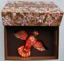 Jay Strongwater Red Cardinal Siam Ornament Swarovski Elements New Box