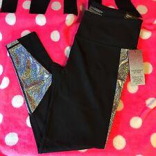 Victoria's Secret Sport VSX Fashion Show Bling Knockout Tights Pants Medium NWT