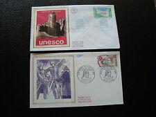 FRANCE -2 enveloppes 1er jour 1980/1989 (unesco/vicomte de noailles(cy63)french