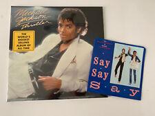 "MICHAEL JACKSON: Thriller LP + Paul McCartney Say Say Say 7"" (Beatles) Vinyl Lot"