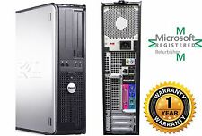 Dell OptiPlex 760 COMPUTER DESKTOP 80GB HD Intel Core 2 Duo 4GB RAM WINDOW 10 HP