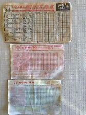 SCHEDINA SISAL TOTIP 1967 E 2 SCHEDINE TOTOCALCIO CAMPIONATO GRECIA 1990