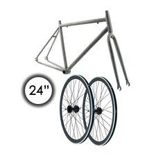 Kit Frame 24 Fixed Gear Steel Rough + Wheels 1 9/16in Black KITSF24WH707 Ridewil