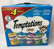 Temptations Classic Cat Treats Feline Favorites Food Variety Pack 4-3 oz Pouches