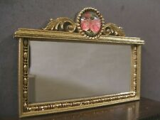 PINK  FLORAL  MIRROR ~ Handcrafted ~Jim Coates~ Dollhouse~ 1:12 scale ~ Room Box