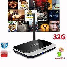 Android 5.1 Smart 3D TV BOX Quad Core 32GB NEW 16.1 4K Media Streamer WIFI PC HD
