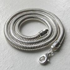 """Cadena serpiente italiano de plata esterlina sólida, ancho 5mm, longitud 20"""""""