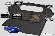 Fits: Nissan 350Z Convertible Top & Heated Glass Window 2003-3009 Black Stayfast